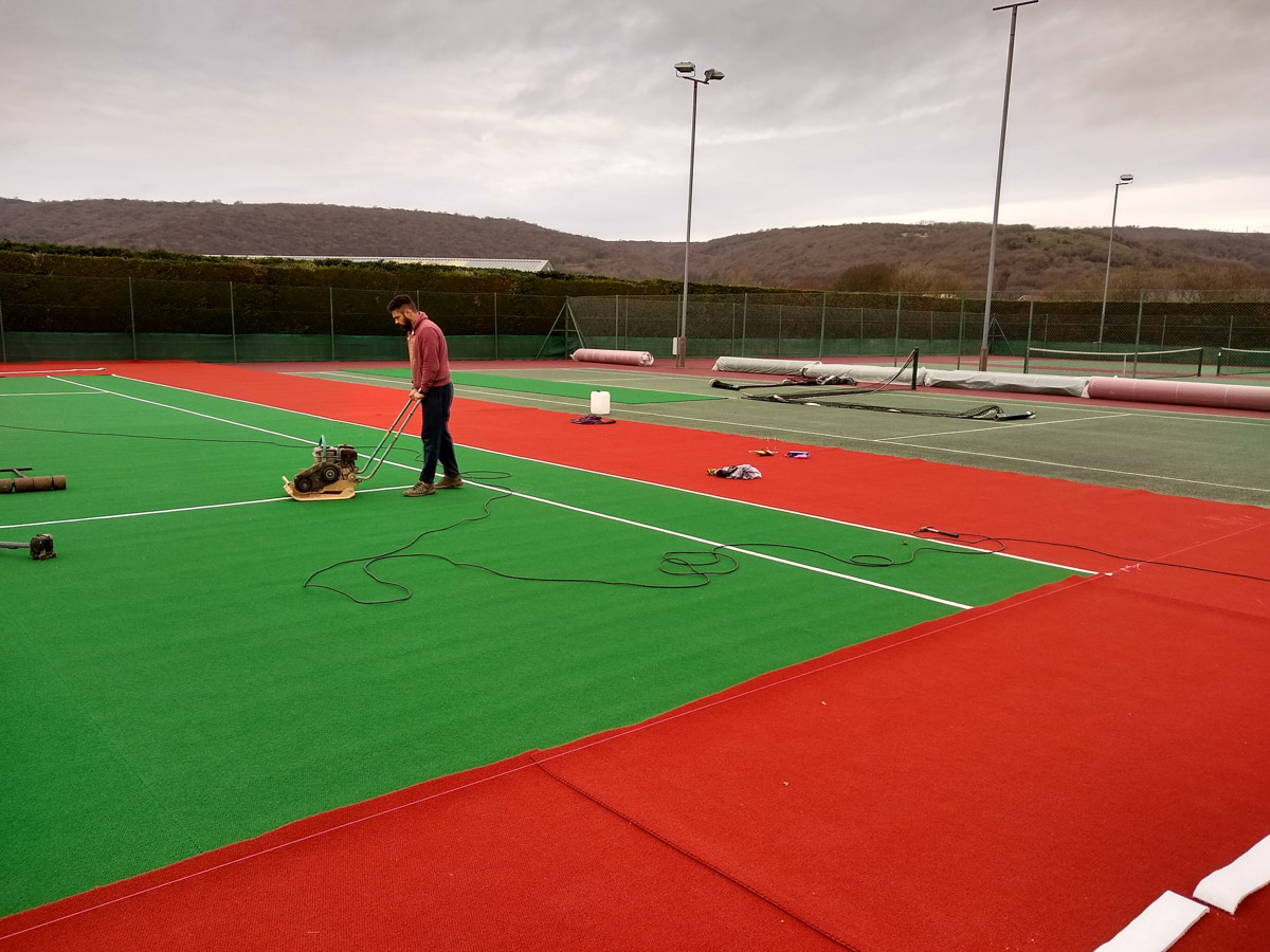 New Courts For Cheddar Tennis Club