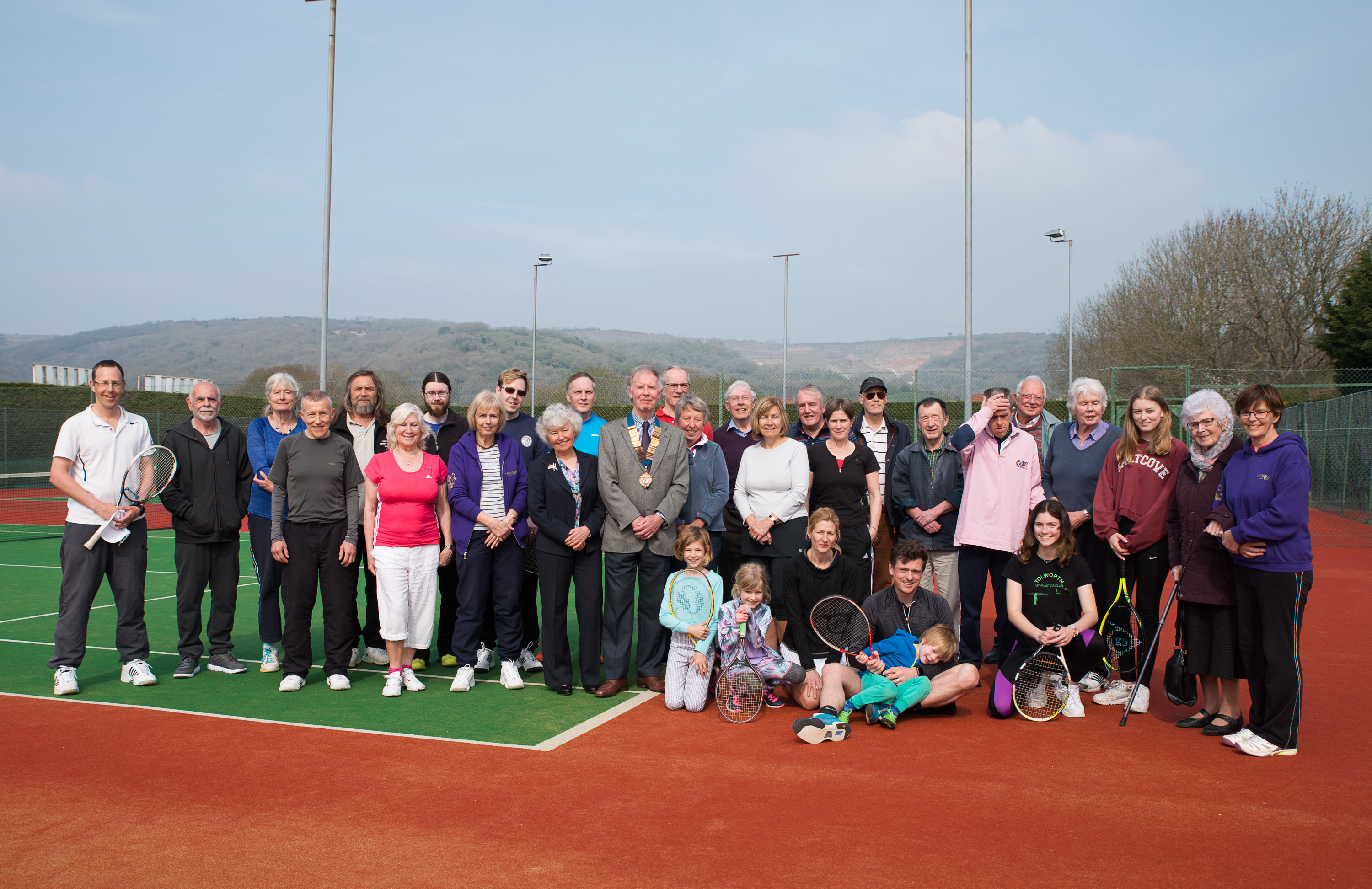 OFFICIAL OPENING OF CHEDDAR TENNIS CLUB'S NEW COURTS